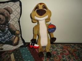 Walt Disney Exclusive Lion King TIMON Stuffed Meerkat with Ladybug 11 inch - $39.39