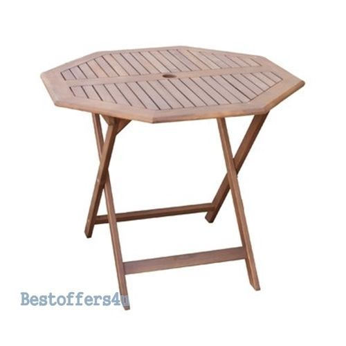 Wooden Garden Dining Set Table & 4 Chairs Folding Patio Conservatory Furniture image 5