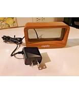 Capello Window Alarm Clock Wood Finish - USB Phone Charger Model CA-30 - $12.86