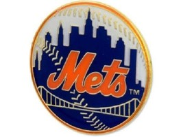 New York Mets Mlb Logo Pin - $9.85