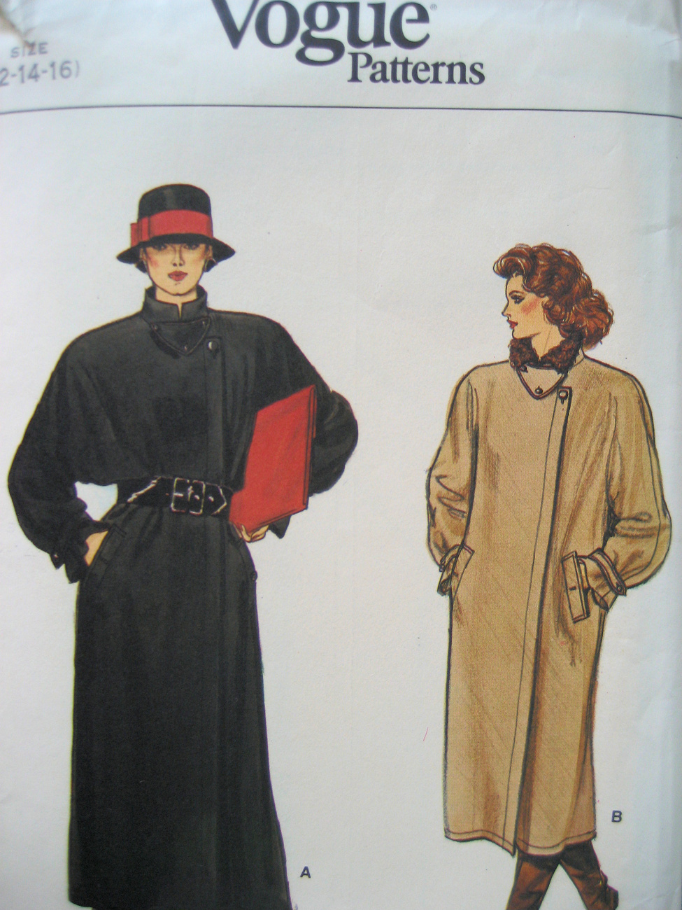 Vogue 8781 Vintage  Pattern Womans Side Closing Coat  Medium  Vogue Patterns