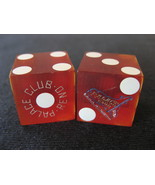 "Three Casino 19mm Dice From: ""The Palace Club"" Since 1888  Reno, Nv.  (sku#4927) - $29.85"