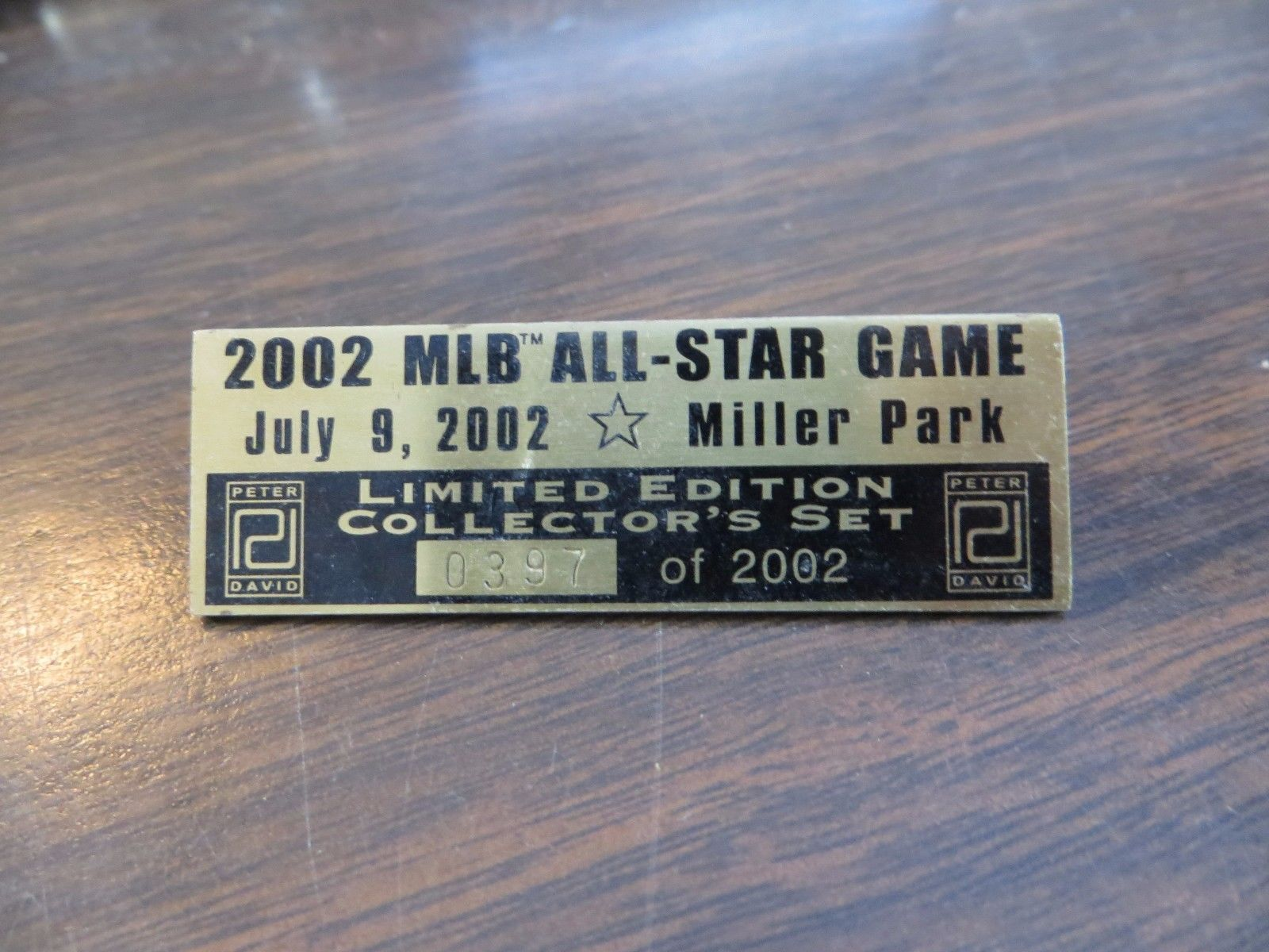 2002 MLB ALL STAR GAME,MILLER PARK,LIMITED EDITION  collecter 0397 souvenir pin