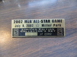 2002 MLB ALL STAR GAME,MILLER PARK,LIMITED EDITION  collecter 0397 souve... - $14.25