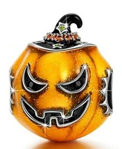 Sterling Silver Halloween Witch Hat Pumpkin European Charm for Pandöra B... - $53.45