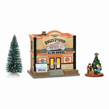 Department 56 Harley Davidson Series Clubhouse Box Set Lighted Bldg Seal... - $140.00