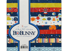 Bo Bunny Blast Off! Collection 6x6 Inch Cardstock Paper Pad #6PB175