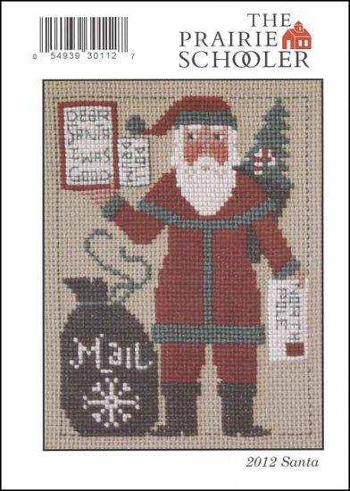 2012 Yearly Santa Mail Christmas Card Prairie Schooler Cross Stitch Pattern