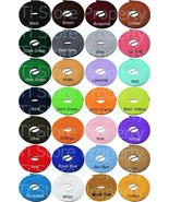 (3 Pair)Round Shoelaces 3/16 Thick Solid Colors for All Shoe Types Sever... - $7.99