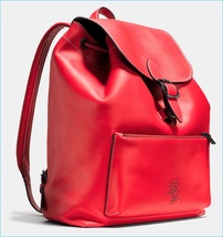 Disney x Coach Mickey Rainger Red Leather Backpack - $599.00