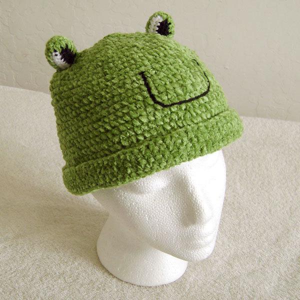 Frog Hat for Children - Animal Hats - Medium