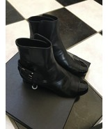 NIB 100% AUTH Chanel 13B G29423 Black Patent Leather Cap Toe Boots Sz 37.5 - $879.12