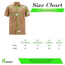 Men's Cuban Beach Wedding Button-Up Khaki Embroidered Guayabera Dress Shirt image 2