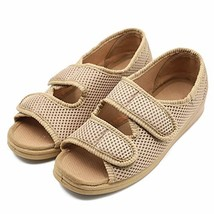 Woman Diabetic Shoes, Extra Wide Width Open Toe Sandals, Adjustable Arth... - $44.98