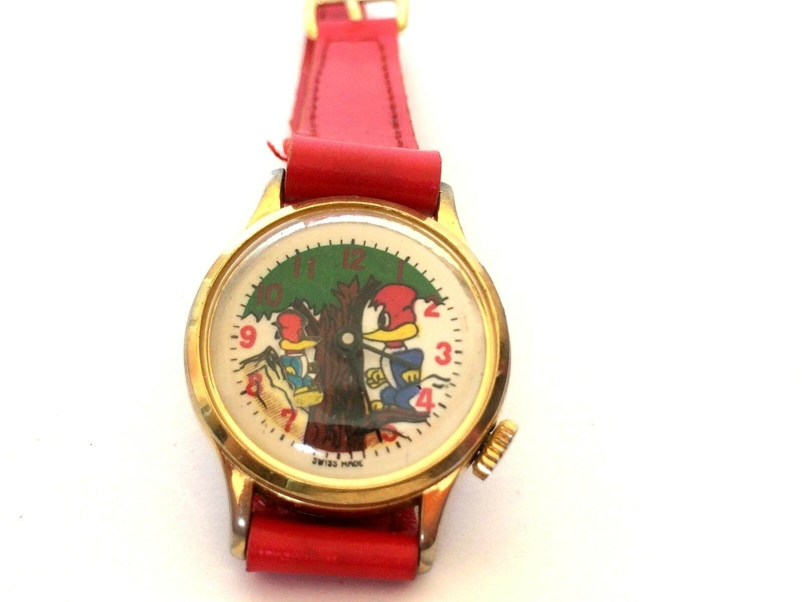 Primary image for Vintage Rare Woody Woodpecker 26mm Swiss Children Hand-Winding Watch