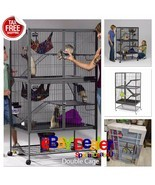 Large Ferret Cage Chinchilla Rabbit Hamster Guinea Pig Rat Iguana Sugar ... - $232.02