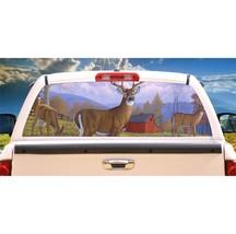 Deer Secrets Unaware Rear Window Mural, Decal, or Tint for rear window in Truck, - $77.99