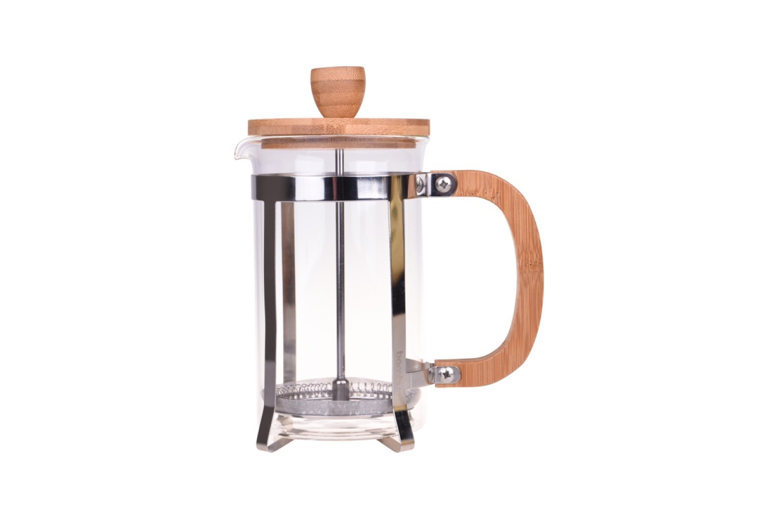 Devin's Bamboo French Press Coffee Plunger - Boho Design 350 ml, 600 ml and 800