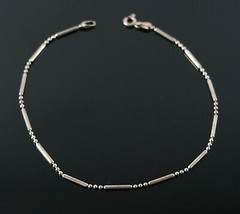 Vintage 925 Sterling Silver Signed MWS Post Bar & Bead Ball Tennis Brace... - $13.49