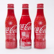 Yokohama & 2 Hanabi Coca Cola Aluminum Full bottle 3 250ml Japan Limited - $38.61
