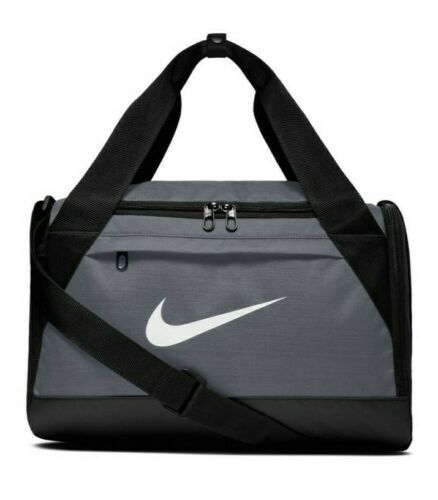 Primary image for NWT NIKE BRASILIA XS DUFFEL BAG - TRAVEL - GYM - TRAINING GRAY/BLACK BA5982-064
