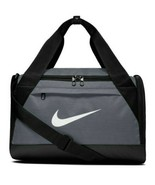 NWT NIKE BRASILIA XS DUFFEL BAG - TRAVEL - GYM - TRAINING GRAY/BLACK BA5... - $46.74