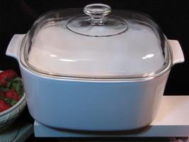 Vintage CorningWare Winter White Dutch Oven, 5 Qt Dutch Oven, Pyroceram - $64.99