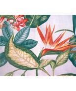 Stunning Barkcloth Tropical Hibiscus Bird of Pa... - $12.00
