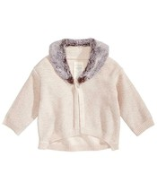 First Impressions Baby Girls Faux Fur Trimmed Cardigan Sweater MSRP $38 NWT - $12.48