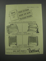 1954 Belling Hotspur, Solray, Dinkie and Empire Fires Advertisement - $14.99