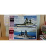 NIB Nichimo 1/500 Nagato and Mutsu Motorized IJN Battleships Rare - $161.50