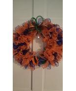 Go Gators!! Orange and Blue mesh deco handmade wreath 17 in. - $33.00
