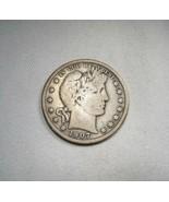 1907-P Silver Barber Half Dollar CH VG Coin AJ559 - $33.80