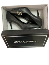 Karl Lagerfeld Black High Heel shoes women Size 7.5 B sourced from Nords... - $71.78