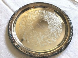"W.M. Rogers Silver Plated 12.5"" Serving Tray round ribbed edge - $46.04"