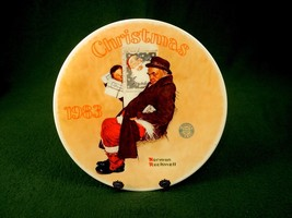 Rockwell 1983 Collector Plate SANTA in the SUBWAY Knowles Certificate Bo... - $12.69
