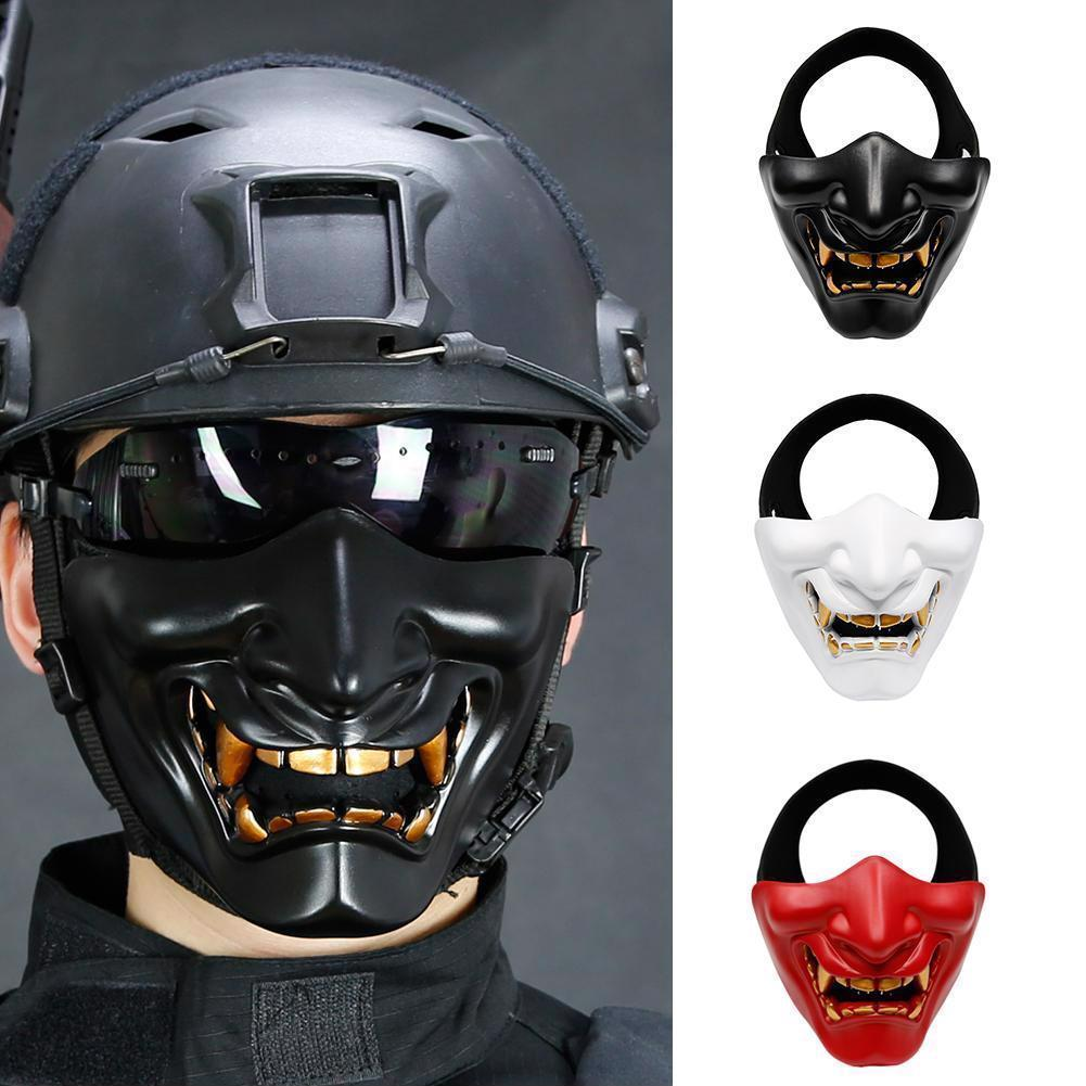 Scary Halloween Mask Lower Half Face Cosplay Horror TPU Breathable Accessories
