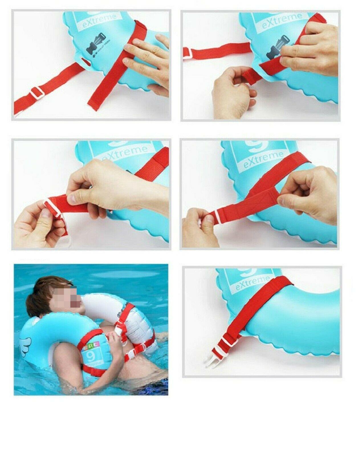 Herc Adult Shoulder Swim Ring Tube for Men Women (Blue)