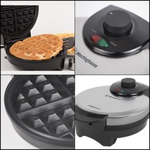 Belgian Waffle Maker Commercial Non-stick Adjustable Temperature Stainle... - $22.39 CAD
