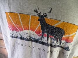 Rocky Mountains Sunset Deer Outdoors T-Shirt Size Xl - $9.89