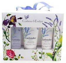 Crabtree & Evelyn Lavender 3-Piece Set Shower Gel +Body Lotion + Hand Cr... - $18.69