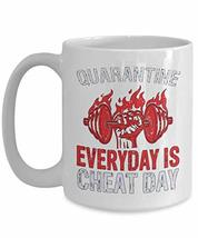 PixiDoodle Foodie Fitness Coach Pandemic Gift Coffee Mug (15 oz, White) - $20.99