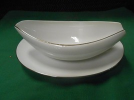 """Beautiful Sango """"Silver Snow"""" ...Gravy Boat With Underplate - $19.39"""