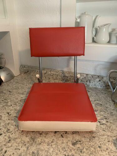 STADIUM seat Red & White vintage folding cushion sports bleacher