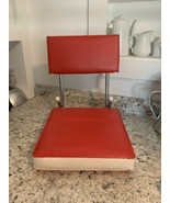 STADIUM seat Red & White vintage folding cushion sports bleacher - $39.55