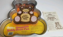 Vintage 1982 Wilton Cake Pan Teddy Bear With Insert And Instructions 80s VTG - $37.23