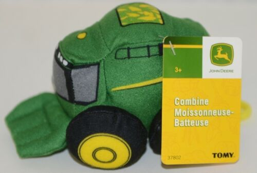 John Deere LP64417 Plush Toy Combine With Plastic Attachment Clip