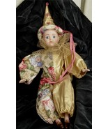 Nice Porcelain Hand Painted Porcelain Clown Doll, Great Size, Main  #383... - $24.74