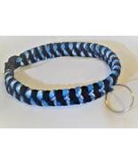 Paracord 550 Dog Collar Blue Black Pattern Fish Tail Design Black Quick ... - $15.00