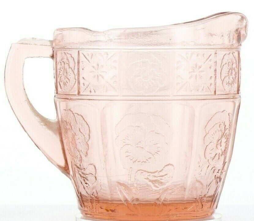 Pink Doric and Pansy Pretty Polly Party Child's Toy Depression Glass Creamer